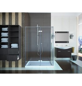 Mirolin Mirolin HDS42PSR Lana Hinge Shower Door Plain Silver