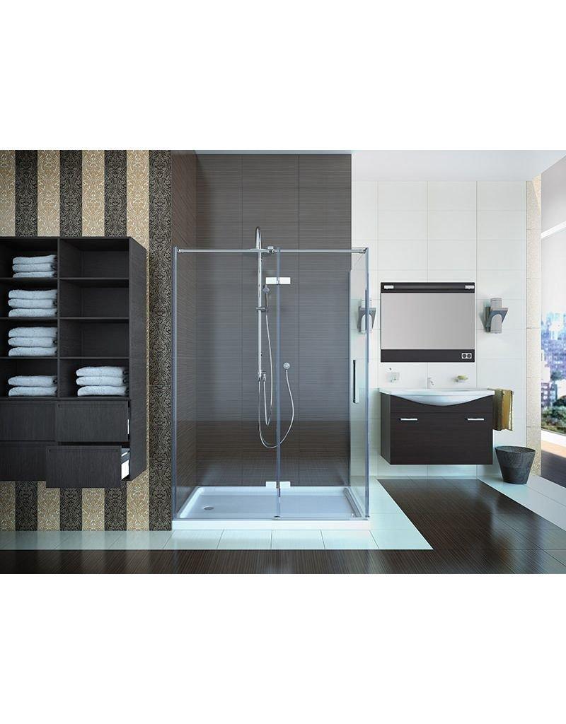 Mirolin Hds36psl Lana Hinge Shower Door Plain Silver Home Comfort