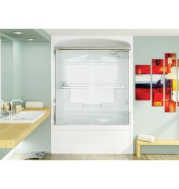 Mirolin Mirolin BDT60 Bypass Shower Door Mystique Silver