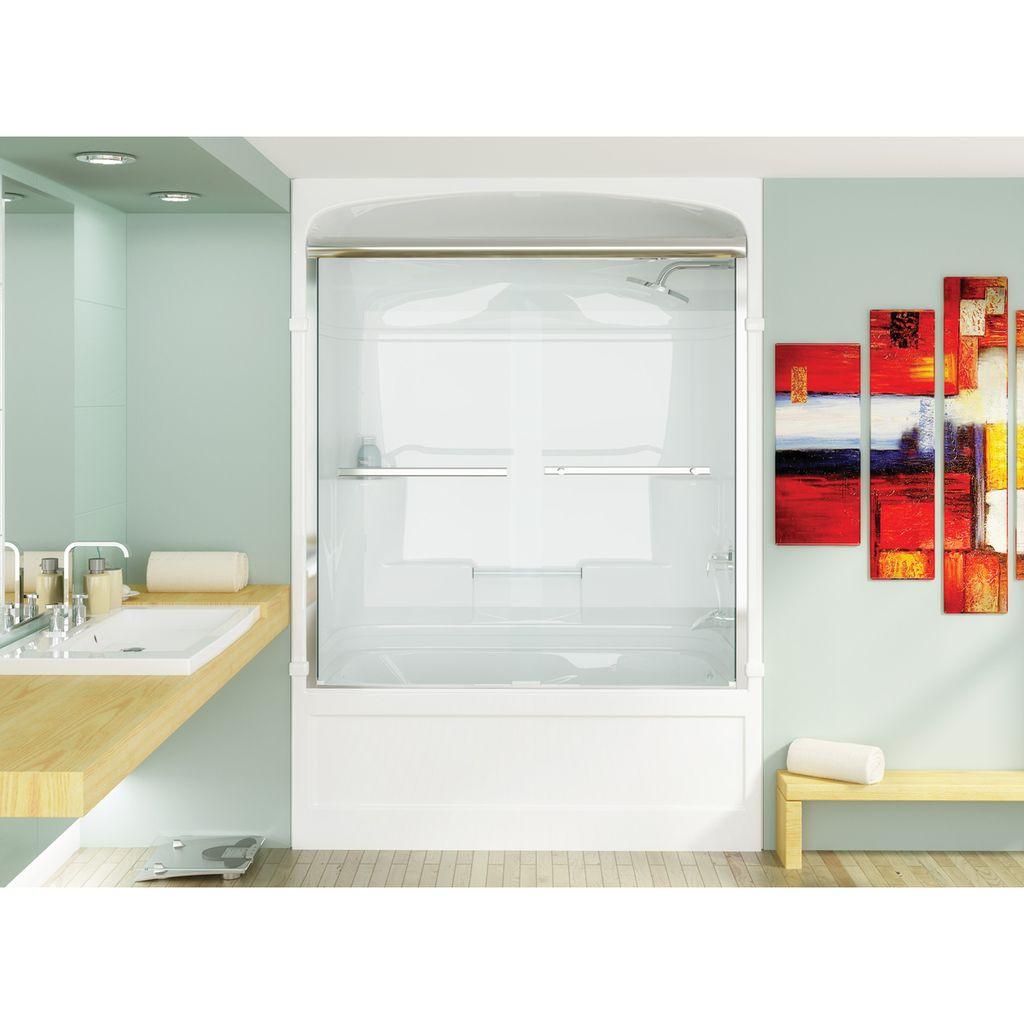 Mirolin BDS60 Bypass Shower Door Mystique Silver - Home Comfort Centre