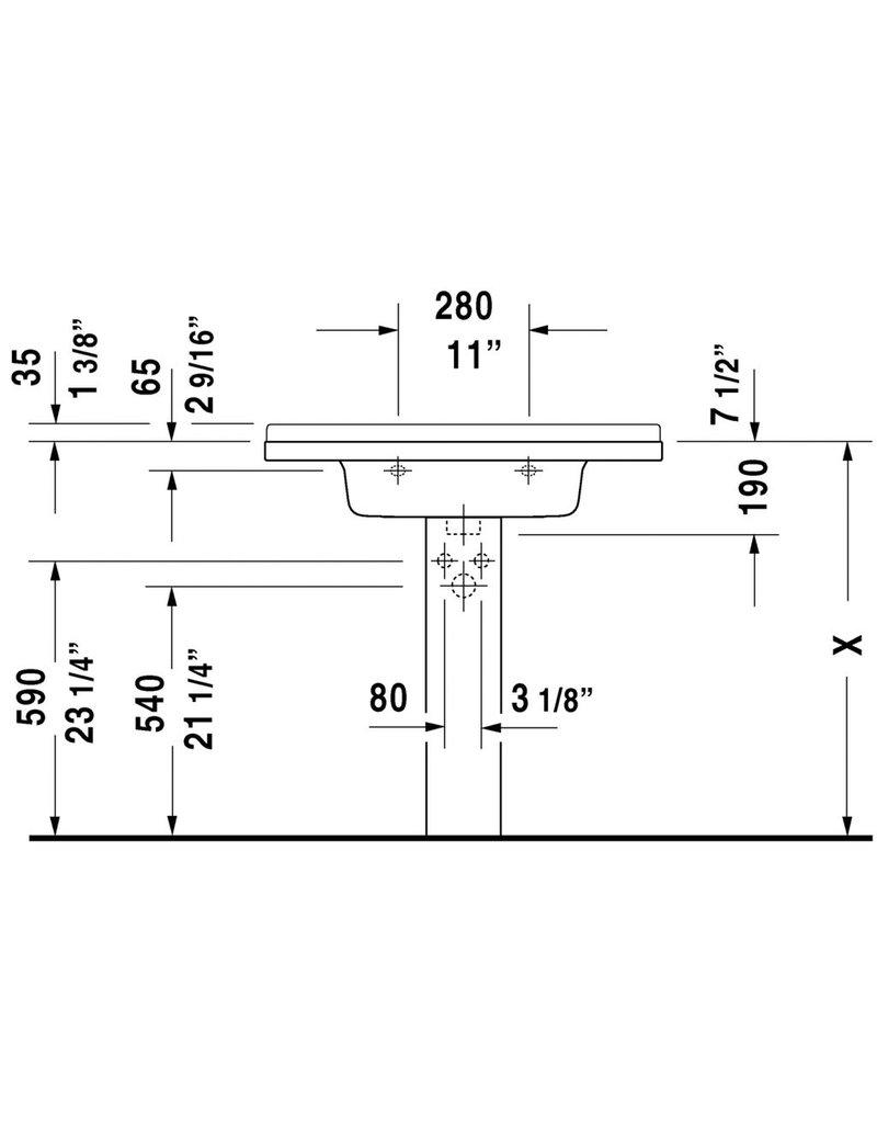 duravit starck 3 furniture washbasin 33 1 2 x 19 1 4. Black Bedroom Furniture Sets. Home Design Ideas
