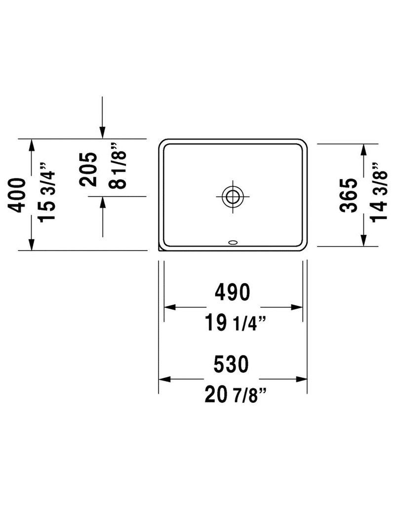 Duravit Starck 3 Vanity Basin 19-1/4\