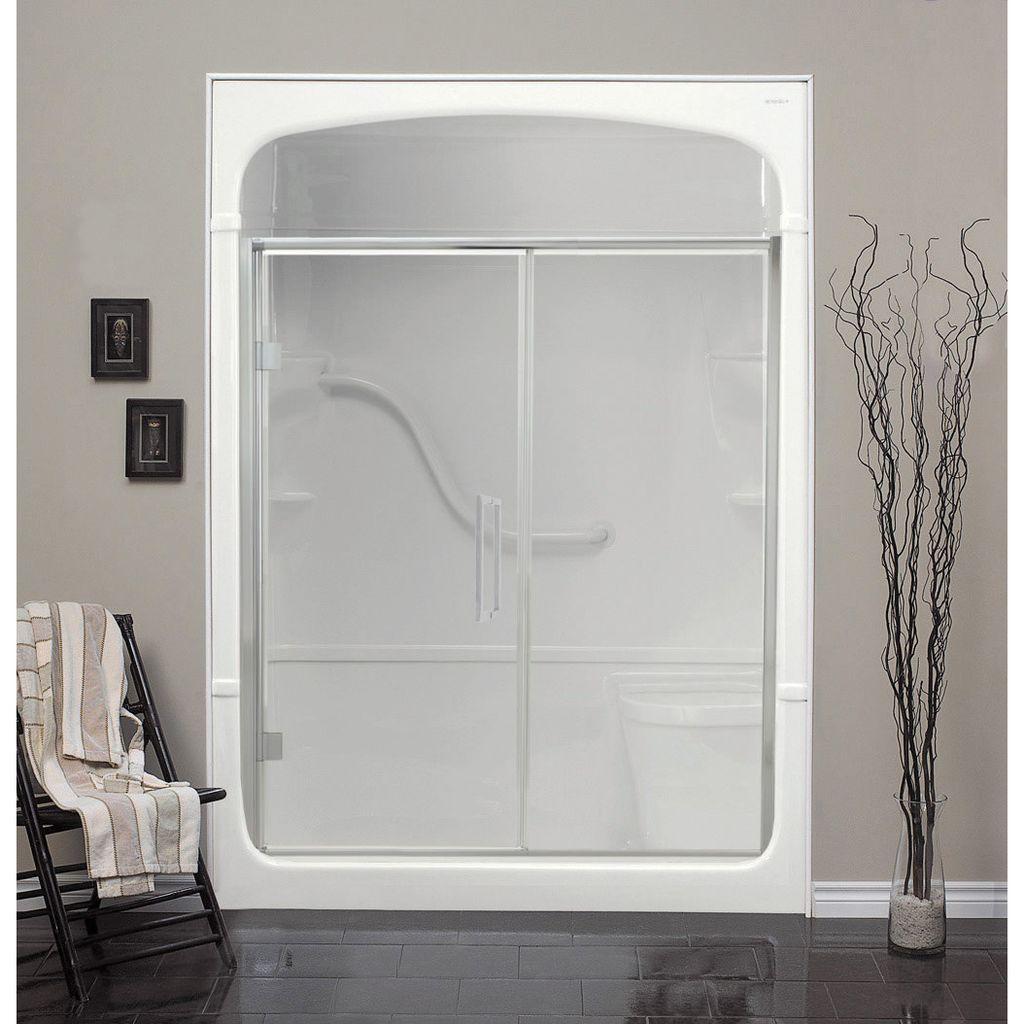Mirolin Fd54 Fixed Panel Pivot Door Plain Silver Home Comfort Centre