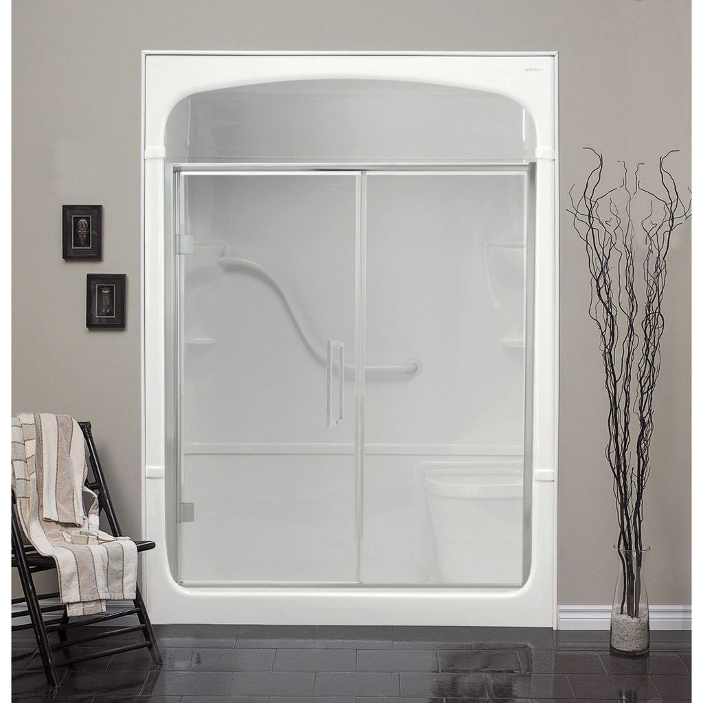 Mirolin Fd44 Fixed Panel Pivot Door Plain Silver Home
