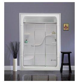 Mirolin Mirolin TD41 Tri Panel Door Raindrop Silver