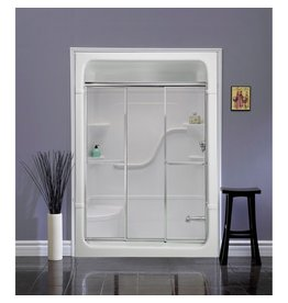 Mirolin Mirolin TD54 Tri Panel Door Plain Silver