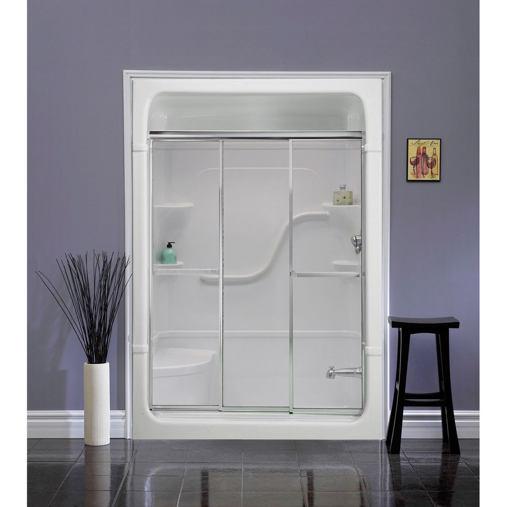 Mirolin Td54 Tri Panel Door Plain Silver Home Comfort Centre