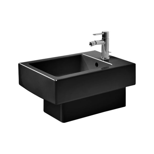 duravit 223915 vero wall mounted bidet black wondergliss. Black Bedroom Furniture Sets. Home Design Ideas