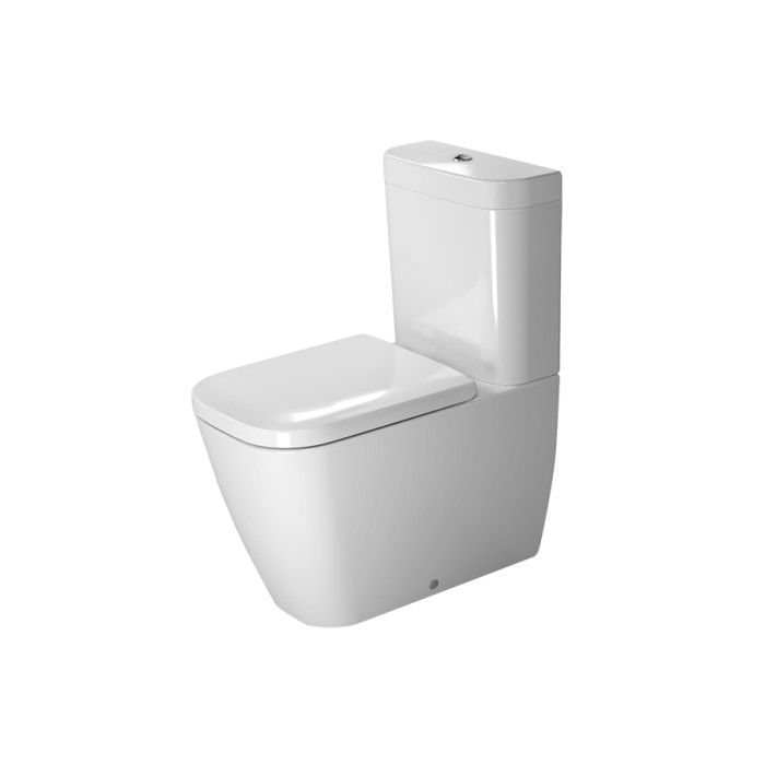 duravit 213409 happy d 2 close coupled toilet without tank. Black Bedroom Furniture Sets. Home Design Ideas