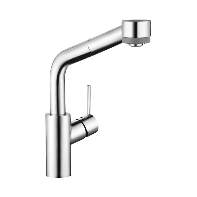 Hansgrohe 04247000 Talis S 2 Spray Semiarc Pull Out Kitchen Faucet Chrome