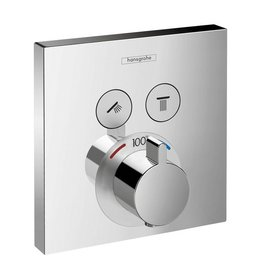 Hansgrohe Hansgrohe 15763001 ShowerSelect Thermostatic 2 Function Trim Square Chrome