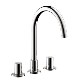 Hansgrohe Hansgrohe 38053001 Axor Uno Widespread 2 Handle High Arc Bathroom  Faucet Chrome