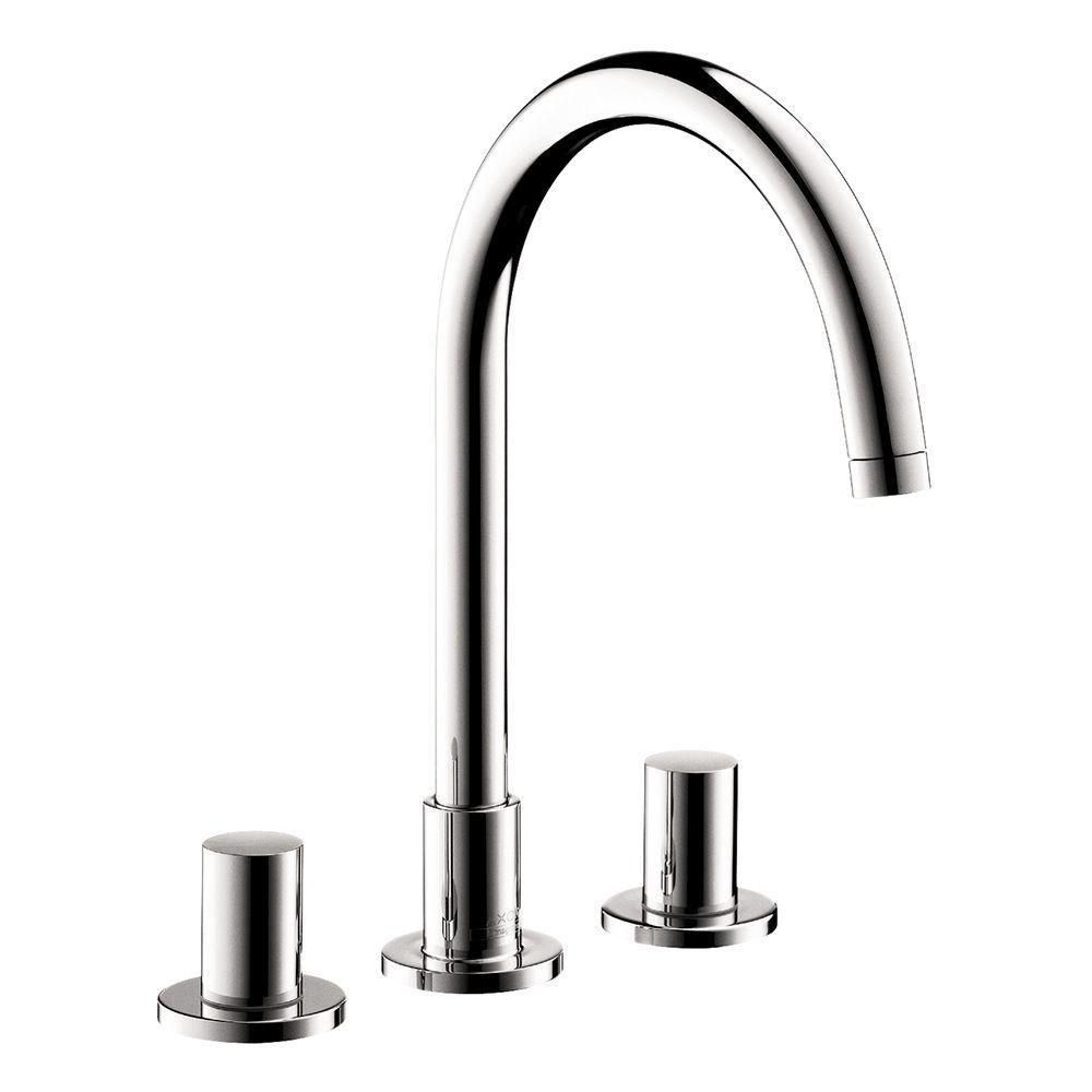 Hansgrohe Hansgrohe 38053001 Axor Uno Widespread 2 Handle High Arc Bathroom  Faucet Chrome ...