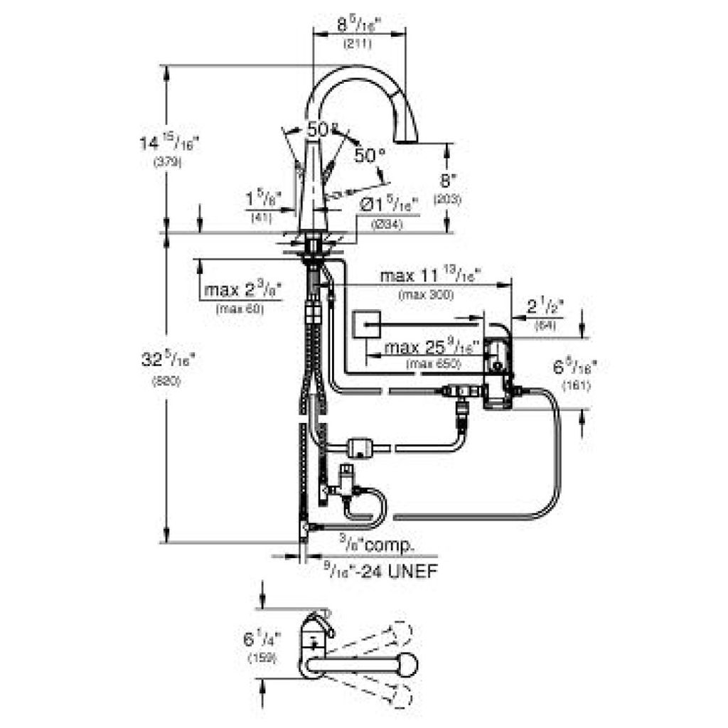 Grohe 30205dc1 Ladylux Cafe Touch Kitchen Faucet Supersteel Home Handles Replacement Also Parts Diagram Electronic Single Handle Super Steel