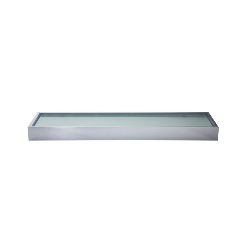 Laloo U9287C Upton Single Glass Shelf Chrome - Home Comfort Centre