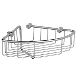 Laloo Laloo 3381BK Corner Wire Basket Polished Black Nickel