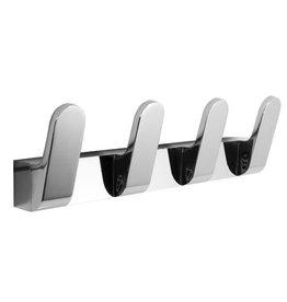 Laloo Laloo 7116-4C Quad Hook Strip Chrome