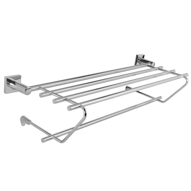 Laloo H2662BK Hero Towel Shelf Polished Black Nickel - Home Comfort ...