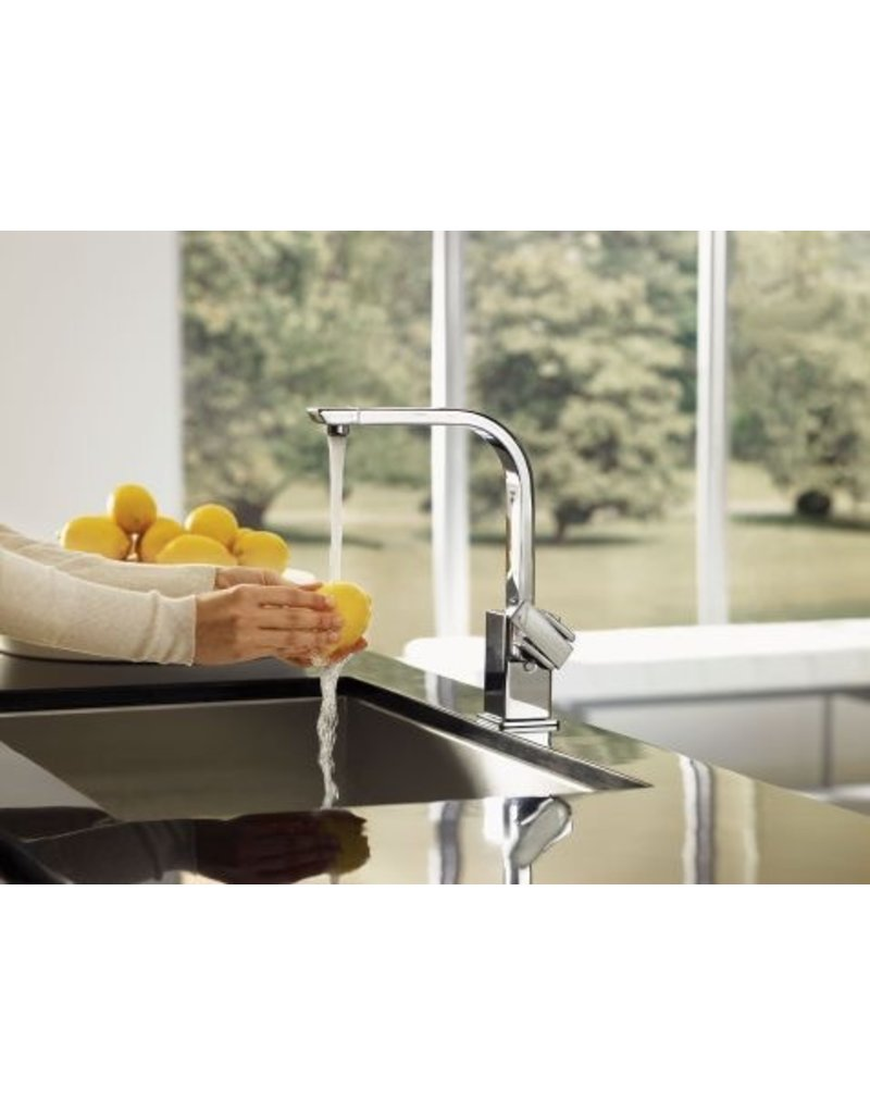 Moen Moen S7170SRS 90 Degree One Handle High Arc Kitchen Faucet Stainless
