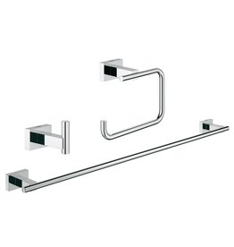 Grohe Grohe 40777001 Essentials Cube Guest Bathroom Accessories Set 3-in-1 Chrome