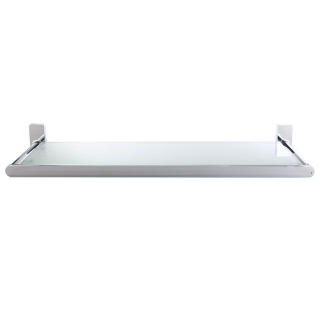 Laloo OX5787C Oxford Single Glass Shelf Chrome - Home Comfort Centre