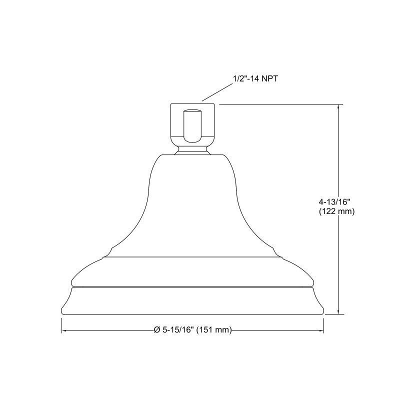 ... Kohler Kohler 14519-CP Bancroft 2.0 Gpm Single-Function Showerhead With  Katalyst Air-