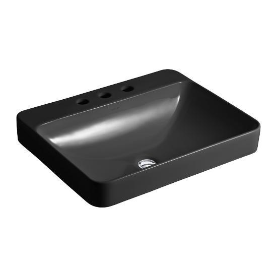 Superbe ... Kohler Kohler 2660 8 7 Vox Rectangle Vessel Bathroom Sink With  Widespread Faucet Holes