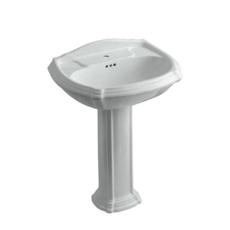 Kohler 2221 1 95 Portrait Pedestal Lavatory With Single Hole Faucet