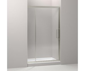 Kohler 705822 L Nx Lattis Pivot Shower Door 76 H X 45 48 W With 3 8 Thick Crystal Clear Gl Home Comfort Centre