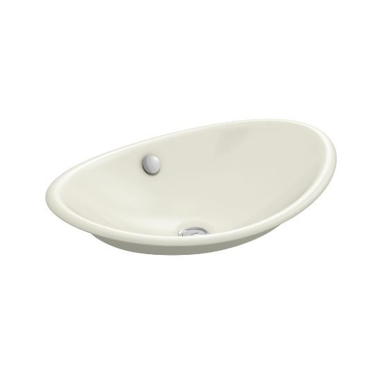 Kohler 5403 B 96 Iron Plains Wading Pool Oval Bathroom Sink With Biscuit