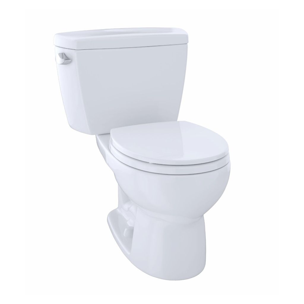 Toto TOTO CST743E Eco Drake Two Piece Round Toilet Cotton
