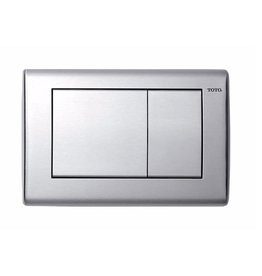 Toto TOTO YT820 Convex Push Plate Dual Button Stainless Steel