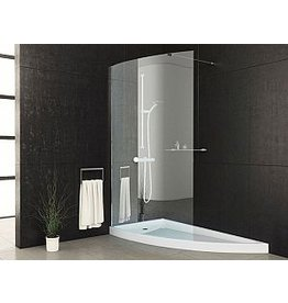 Mirolin Mirolin WE47PS Wedge Shower Door Plain Silver