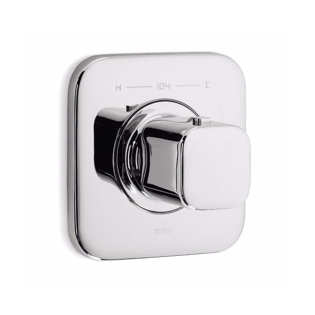 U Type Chrome Electric Water Heater Mixing Valve Single: Toto TS630TCP Upton Thermostatic Mixing Valve Trim