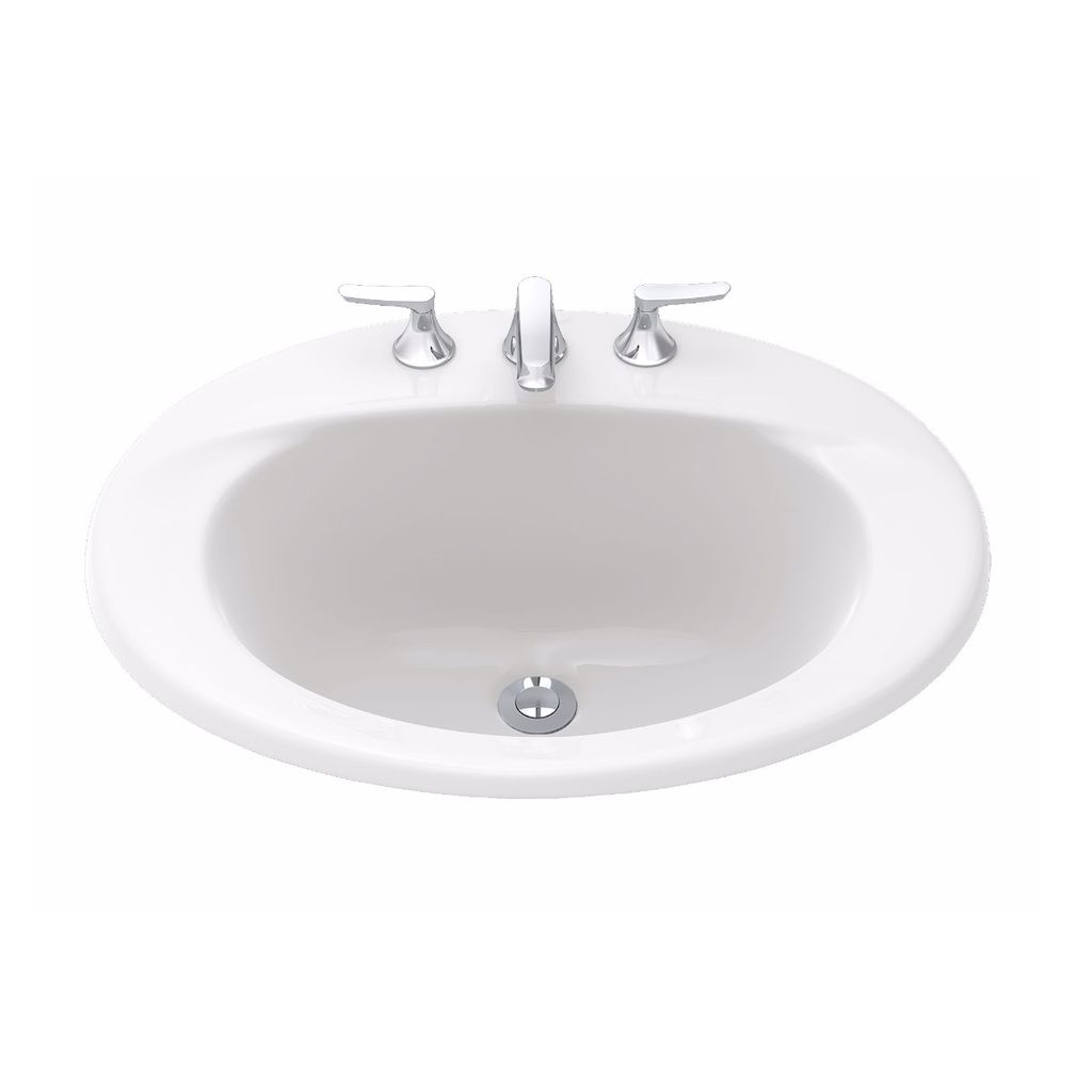 """TOTO LT511.4G Supreme 4"""" Self Rimming Lavatory Sink Cotton - Home on ideas for a shop sink, small white sink, toto drop in sink, wall mount lavatory sink, self rim lavatory sinks, toilet sink,"""