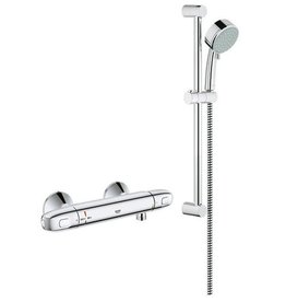 Grohe Grohe 122629 Exposed Thermostat Single Function Shower Kit Chrome