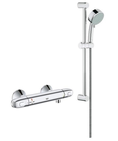 Grohe 122629 Exposed Thermostat Single Function Shower Kit Chrome ...