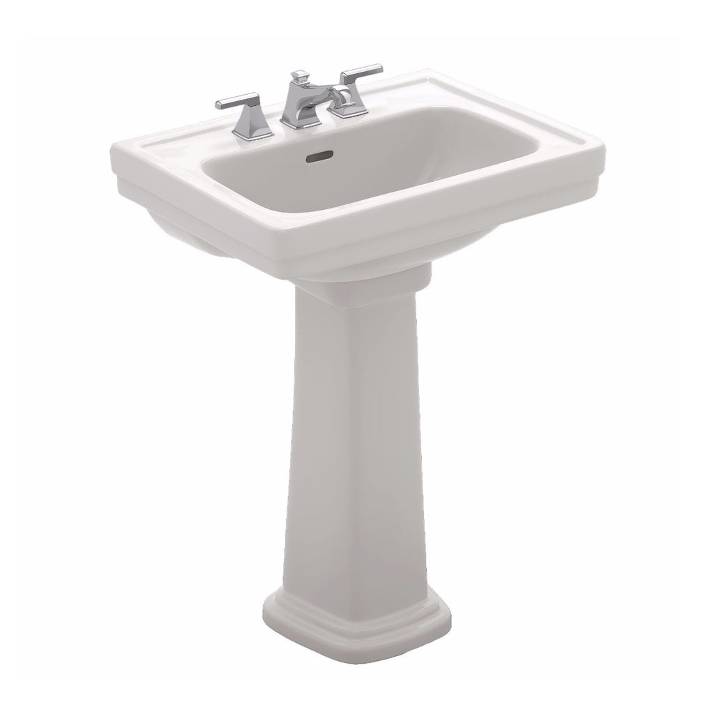 TOTO LPT532 Promenade Pedestal Lavatory 8 Center Sink Cotton - Home ...