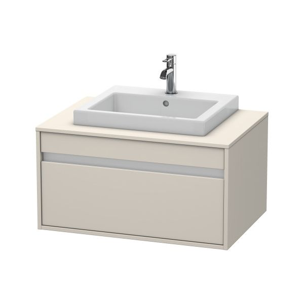 duravit kt679409191 ketho wall mounted vanity unit taupe decor home comfort centre. Black Bedroom Furniture Sets. Home Design Ideas