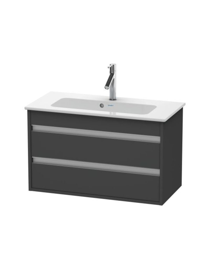 Duravit Duravit KT6453 Ketho Wall Mounted Compact Vanity Unit Graphite Matt