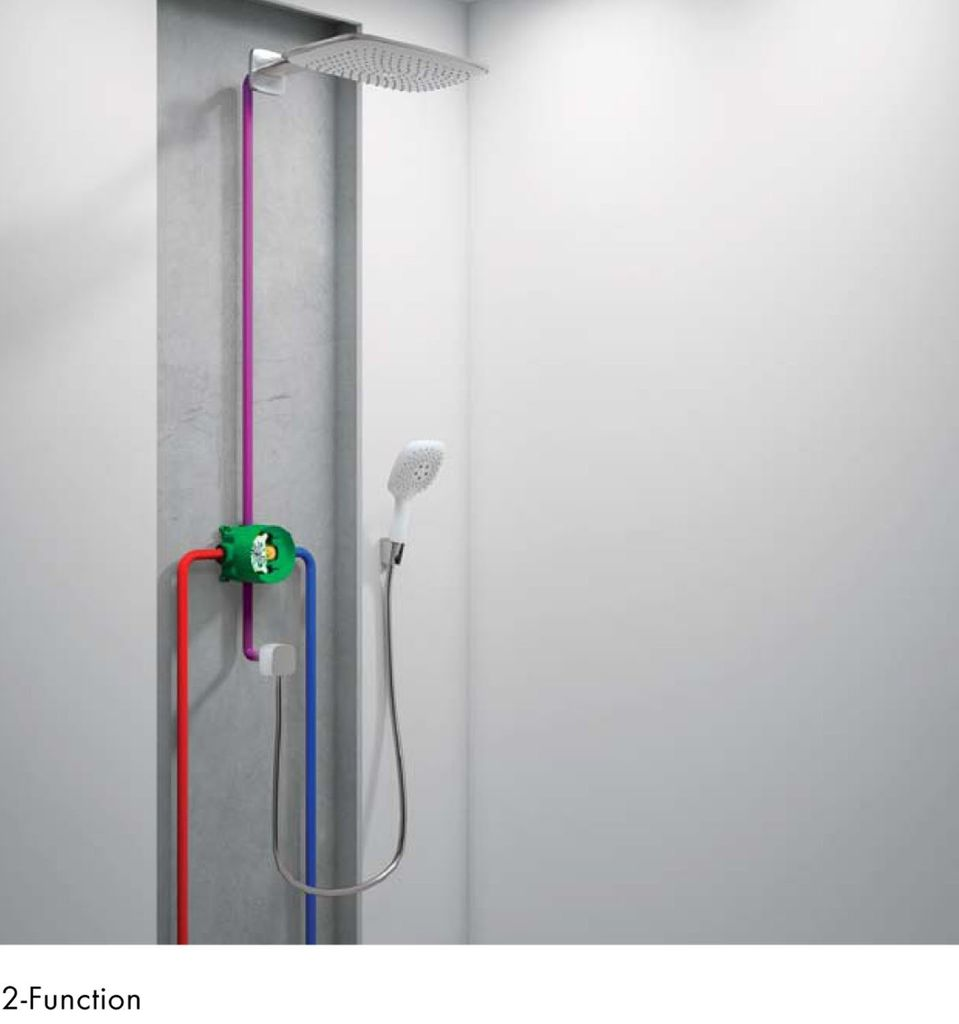 Hansgrohe 1850181 iBox Universal Plus Rough With Service Stops 3/4 ...
