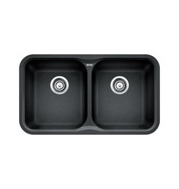 Blanco Blanco 400085 Vision U 2 Double Undermount Kitchen Sink