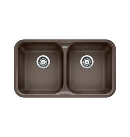 Blanco Blanco 400376 Vision U 2 Double Undermount Kitchen Sink