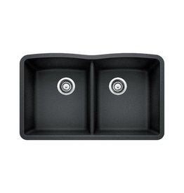 Blanco Blanco 400073 Diamond U 2 Double Undermount Kitchen Sink