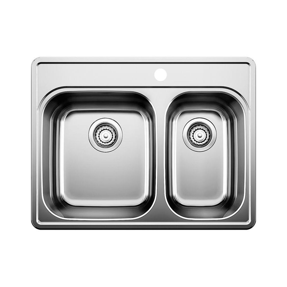 Blanco 401001 Essential 1 1/2 Single Hole Double Kitchen Sink - Home ...