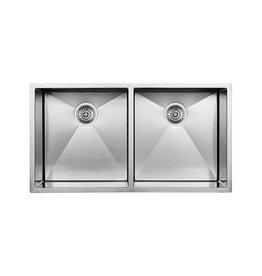 Blanco Blanco 400452 Radius 10 U 2 Double Undermount Kitchen Sink