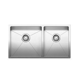 Blanco Blanco 401520 Quatrus R15 U 1.75 Double Undermount Kitchen Sink