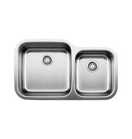 Blanco Blanco 400757 Super Supreme U 1.75 Double Undermount Kitchen Sink