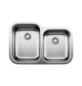Blanco Blanco 400727 Supreme U 1.75 Double Undermount Kitchen Sink