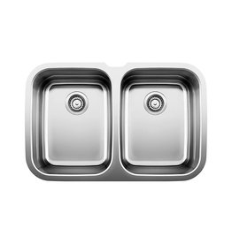 Blanco Blanco 400732 Supreme U 2 Double Undermount Kitchen Sink